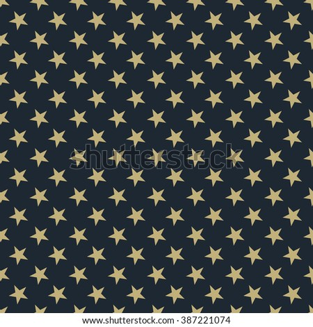 Seamless tan blue and brown stars pattern vector