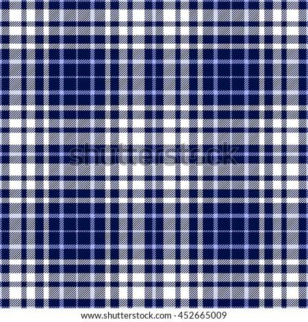 Checkered Fabric Texture Design In Dark Blue White Vector
