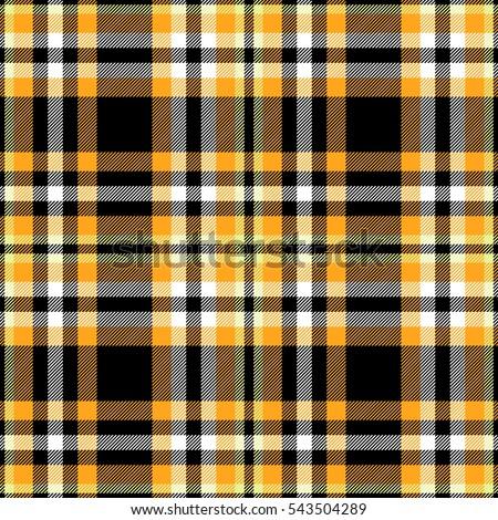 Seamless Tartan Plaid Pattern Checkered Fabric Stock Vector ...