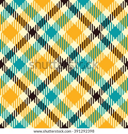 Seamless tartan vector pattern - stock vector