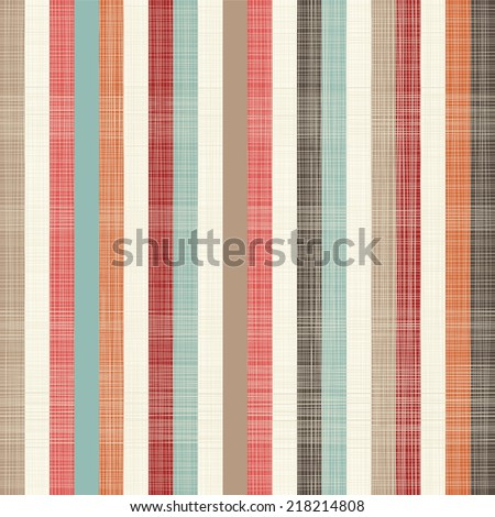 seamless textile quilt pattern with vertical colorful lines - stock vector