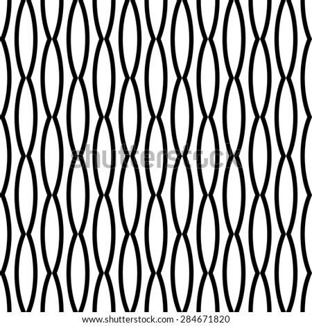 Seamless texture. Abstract. Black and white pattern. Vector. - stock vector