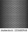 Seamless texture background - black metal surface square perforated. - stock vector