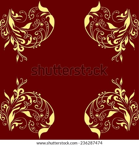 Seamless texture. Background on red color. Vector illustration.