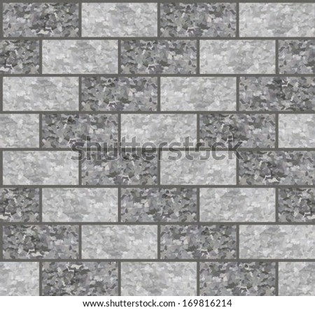 seamless texture brick stone wall - stock vector