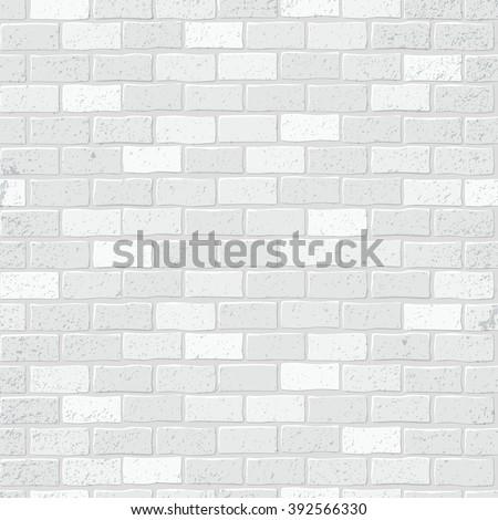 Seamless texture. Brick white wall. Vector illustration. - stock vector
