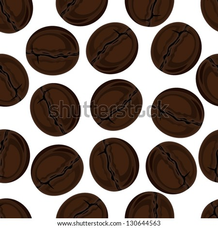 Seamless texture. coffee beans