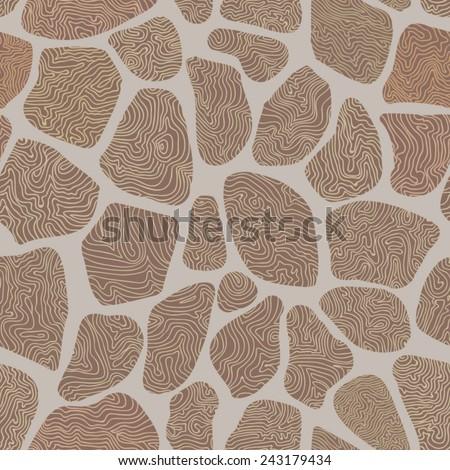 seamless texture masonry, vector illustration - stock vector