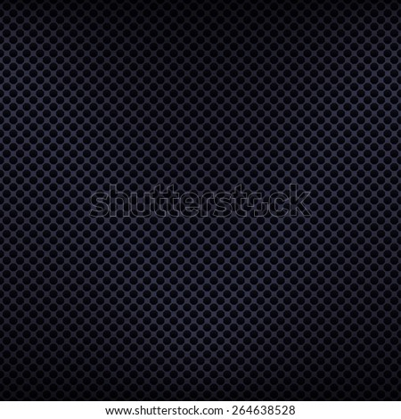 Seamless texture metal surface dotted octagon perforated background, vector, 10eps. - stock vector