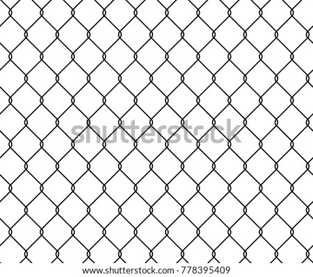 Seamless Texture Metal Wire Fence Vector Stock Vector HD (Royalty ...