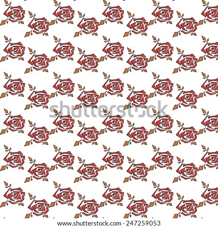 Seamless Texture of a Red Rose