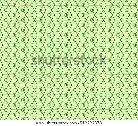 Seamless texture of cube. Optical illusion. Vector illustration. Blue color