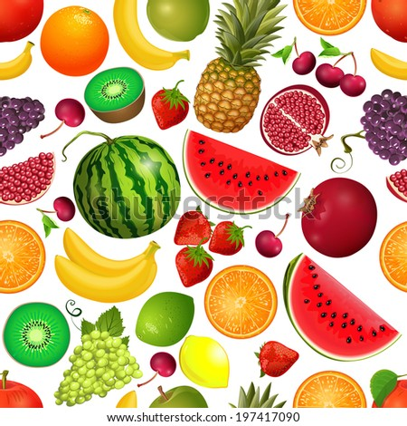 seamless texture of fruit - stock vector