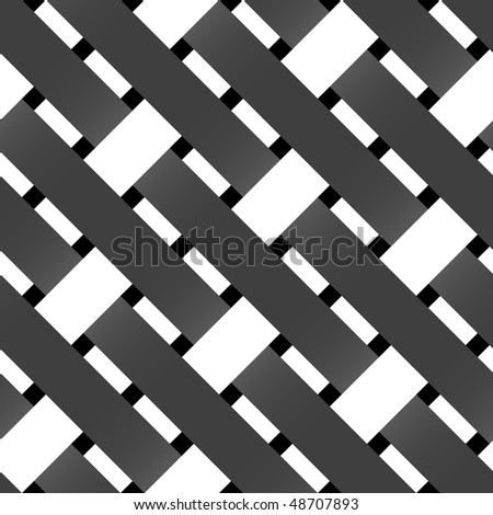 Seamless texture of intertwined color strings, vector - stock vector