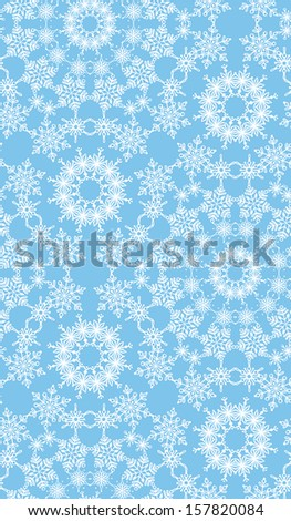Seamless texture of snowflakes. Duotone winter background. Christmas templates. EPS 8. - stock vector