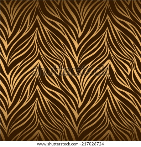 Seamless texture of tiger skin - stock vector