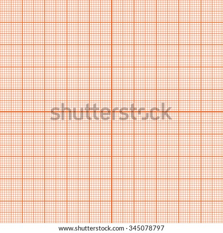 Seamless texture pattern of graph paper on a white background for precise drawings and measurements. Vector Illustration