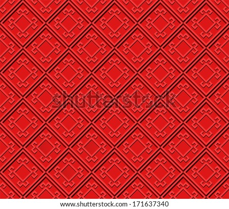 Seamless texture, red ornament.