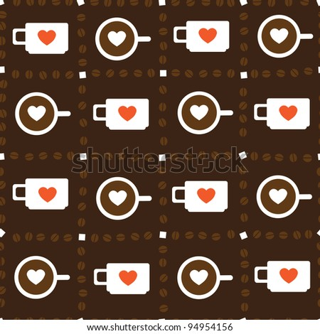Iryna379 39 S Coffee Pattern Set On Shutterstock