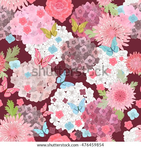 seamless texture with abstract floral design
