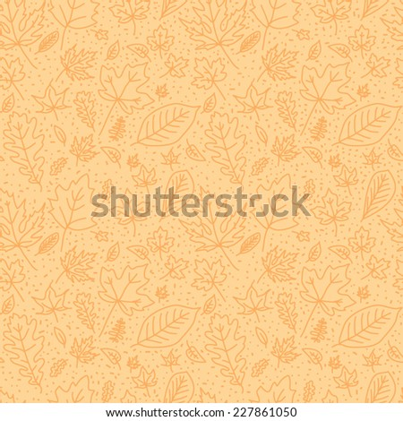 seamless texture with autumn leaves - stock vector