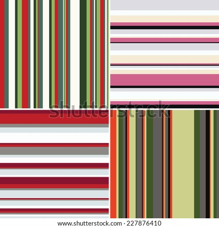 Seamless texture with bright stripes - stock vector