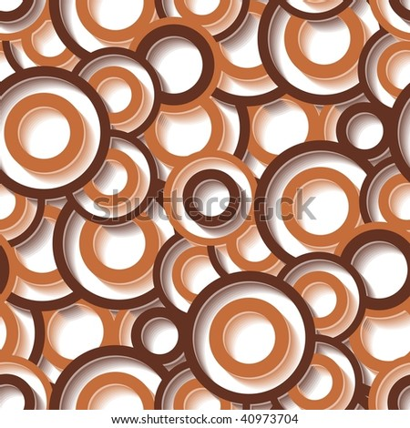 Seamless texture with brown circles
