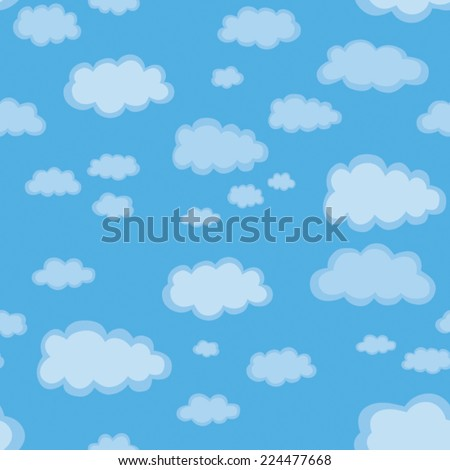 seamless texture with clouds, illustration