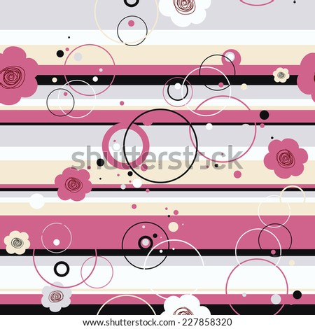 Seamless texture with flowers - stock vector