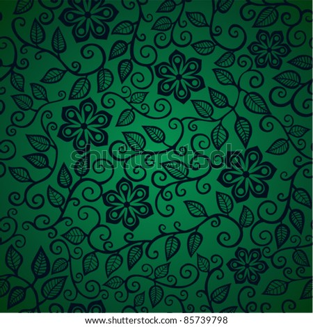 Seamless texture with flowers, eps10 - stock vector