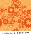 Seamless texture with gears - stock vector