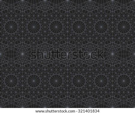 Seamless texture with geometric ornament. Vector lineart pattern - stock vector