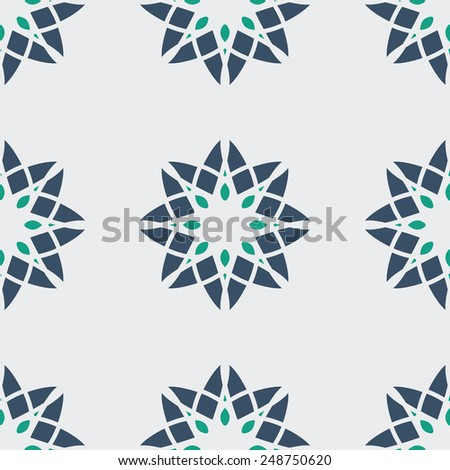 Seamless texture with geometric ornament. Vector pattern - stock vector