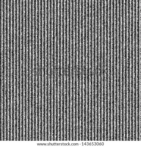 Seamless texture with noise grainy effect and vertical lines for background. Black and white colors template square format size. Vector illustration clip-art design element save in 10 eps - stock vector