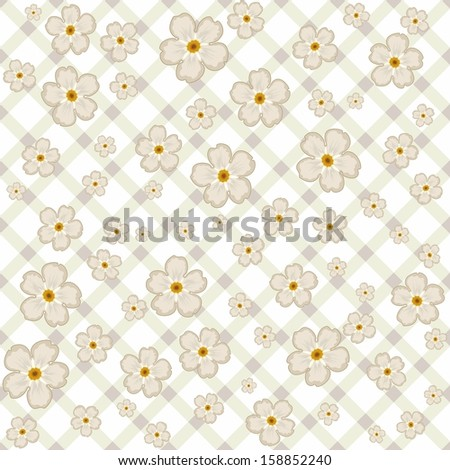 Seamless texture with small flowers. - stock vector