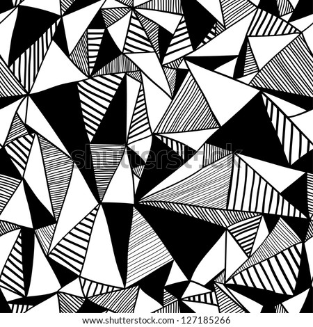 seamless texture triangles mosaic endless pattern stock vector rh shutterstock com black and white flower vector art vector conversion from photo to black and white vector line art