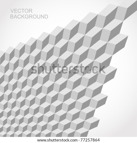 seamless tilable gray 3d isometric cube pattern - stock vector