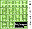 Seamless tile-able vector pattern made from 'Eid Adha' (translation : Festival of Sacrifice) arabic kufic murabba' square calligraphy style. Eid Adha festival mark the end of hajj pilgrimage season - stock vector