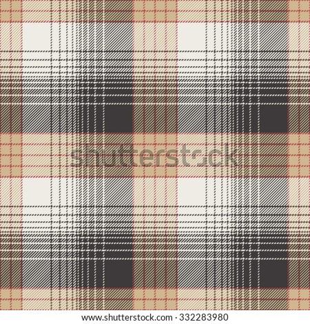 Seamless Tile Pattern, Plaid - stock vector