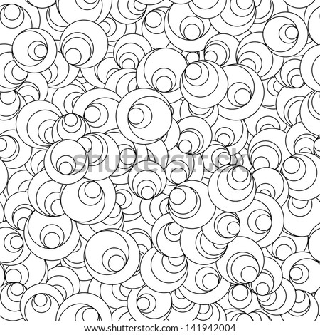 Seamless Tileable Doodle Vector Background - stock vector