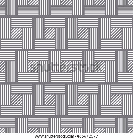 Seamless tiled geometric pattern of intersected squares. Parquet. Oriental culture inspired repeating geometric background. Grid. Vector illustration.