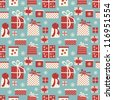 Seamless tiling pattern with Christmas presents. - stock photo