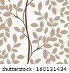 Seamless tree pattern - stock vector