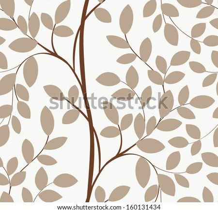 Seamless tree pattern - stock vector