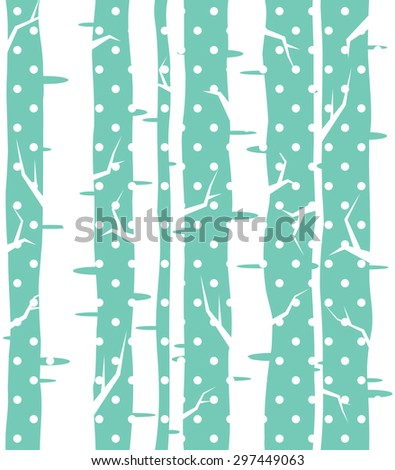 Seamless tree wallpaper trees vector pattern