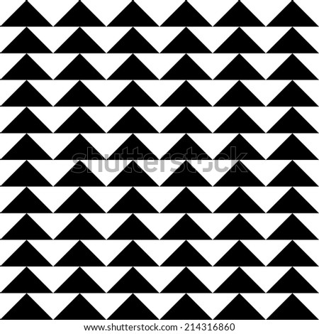 Seamless Triangle Pattern - stock vector