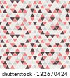 Seamless triangle pattern. Vector background. Geometric abstract texture - stock vector