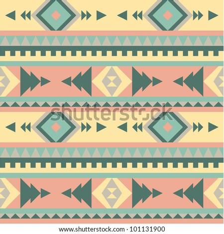 Seamless tribal pattern #2 - stock vector