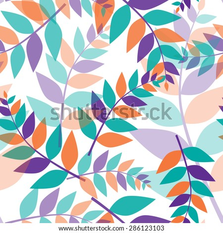 Seamless trichromatic floral pattern for fabric