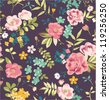 seamless tropical flower pattern background - stock